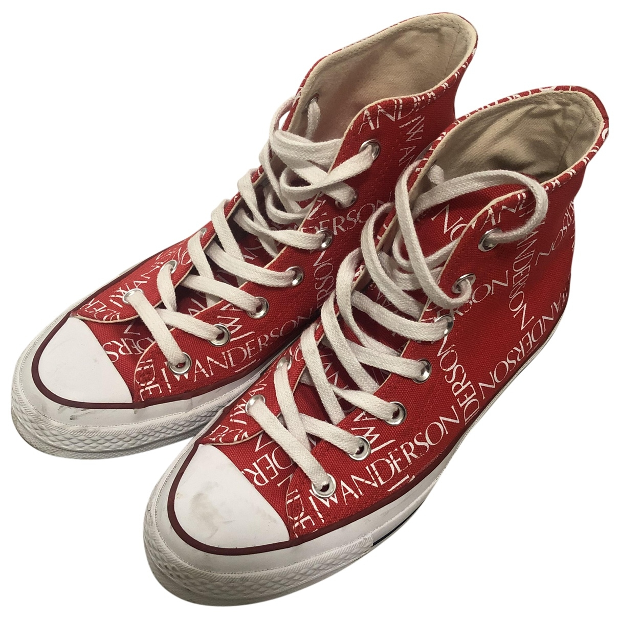 Converse X J.w Anderson - Baskets   pour femme en toile - rouge