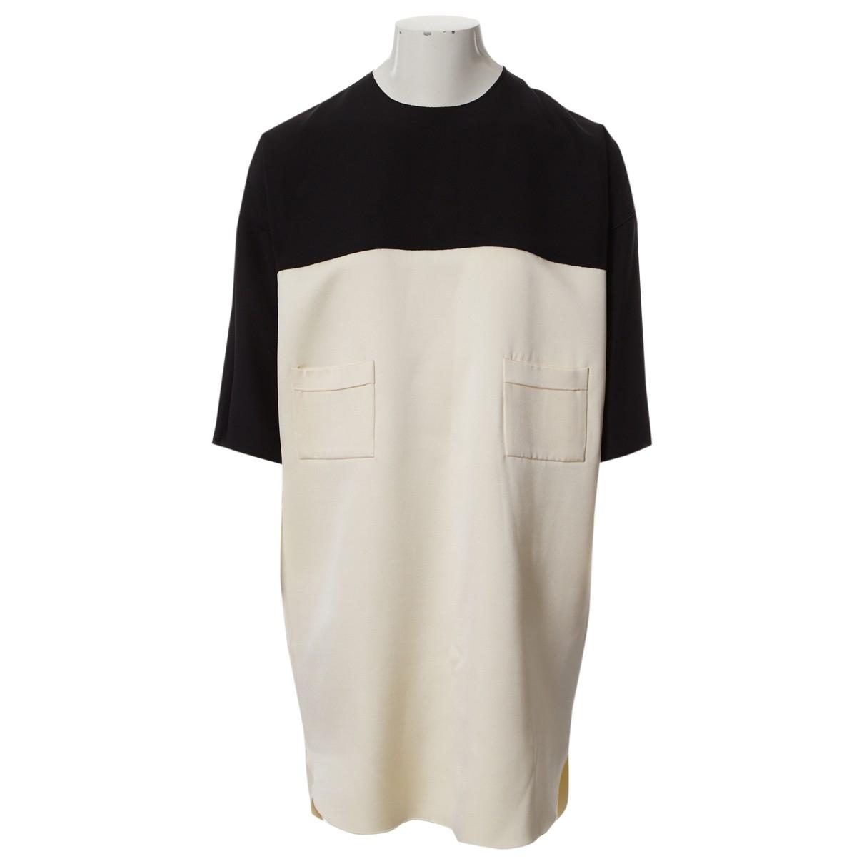 Celine - Robe   pour femme en soie - ecru