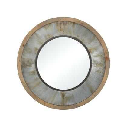 3138-434 Moonshine Wall Mirror  In Galvanized Steel  Salvaged Grey