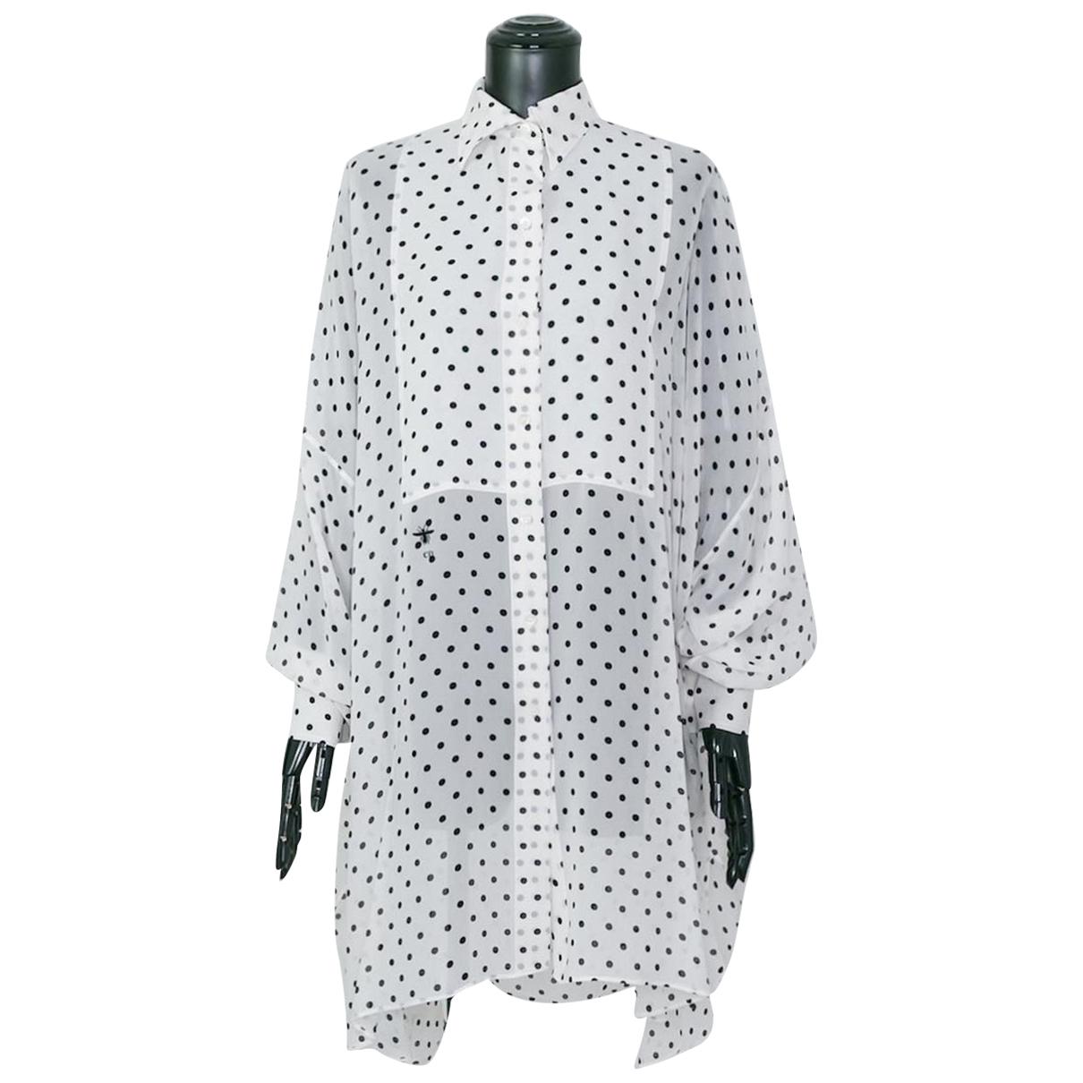 Dior N White Silk  top for Women 38 IT