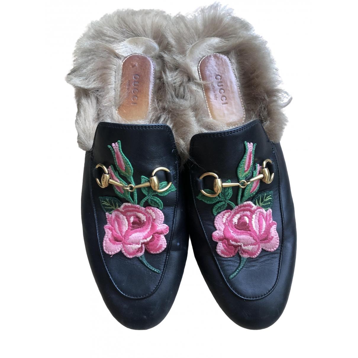 Mocasines Princetown de Cuero Gucci