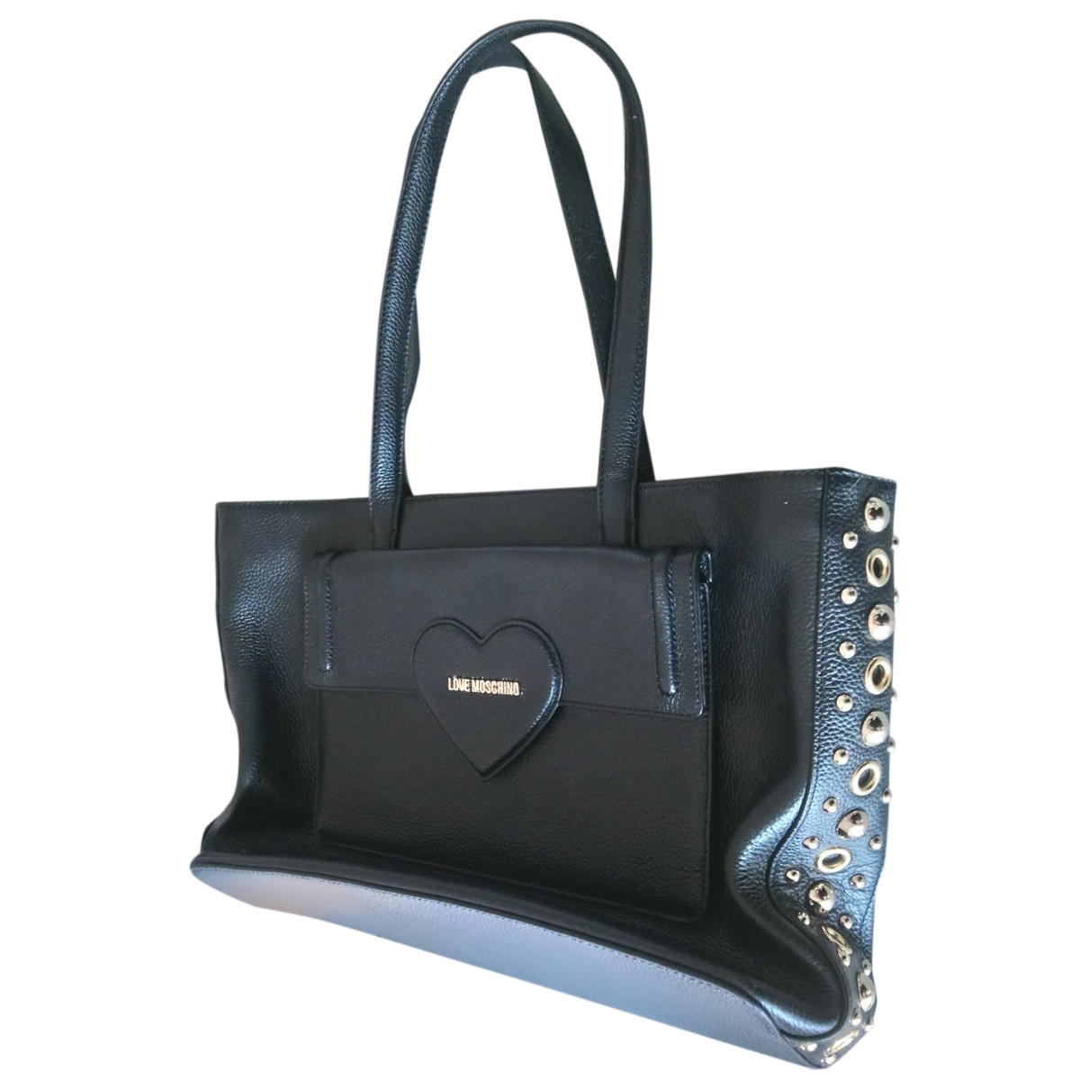 Moschino Love \N Black Leather handbag for Women \N