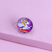 Maedchen Ring mit Einhorn Dekor