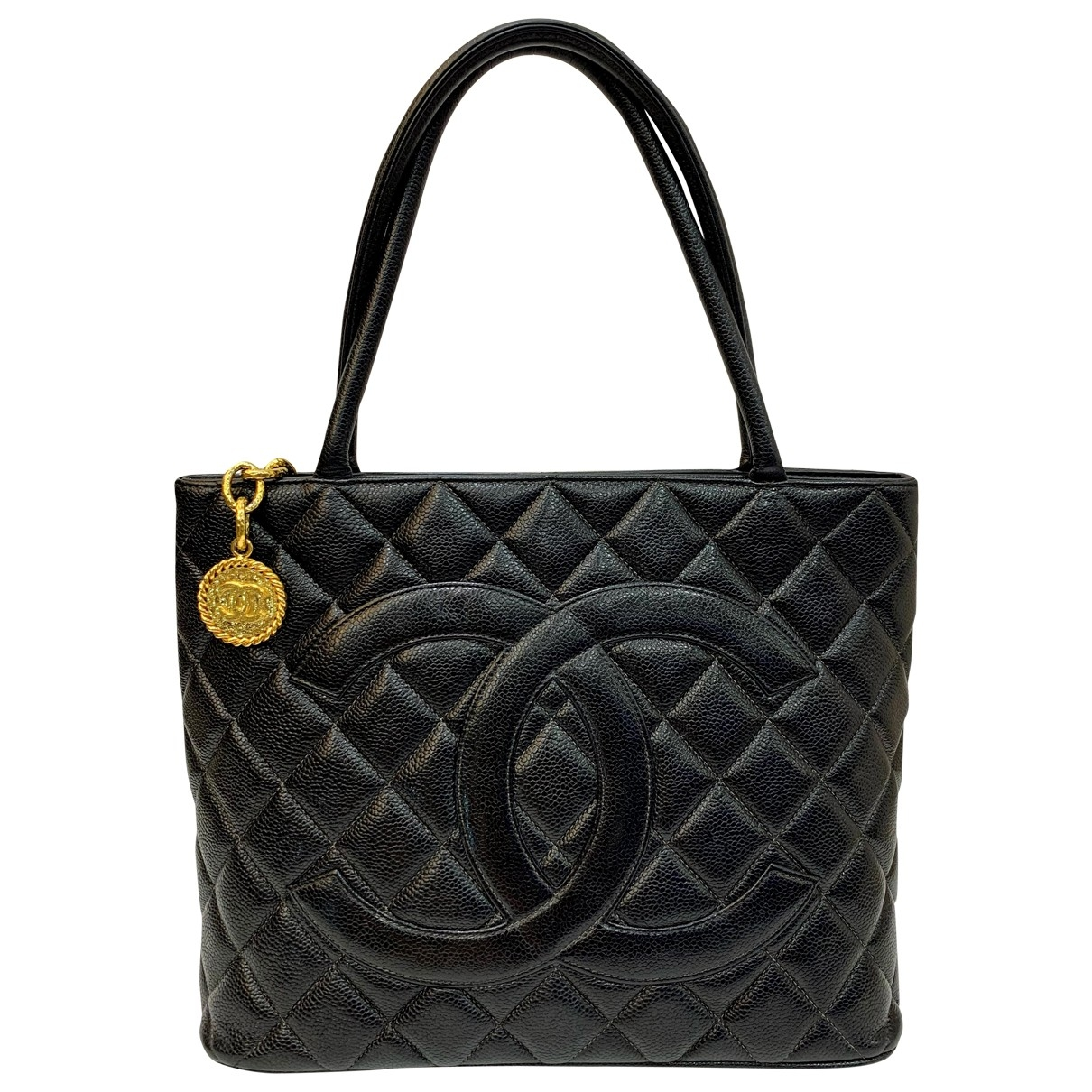 Chanel Médaillon Black Leather handbag for Women \N
