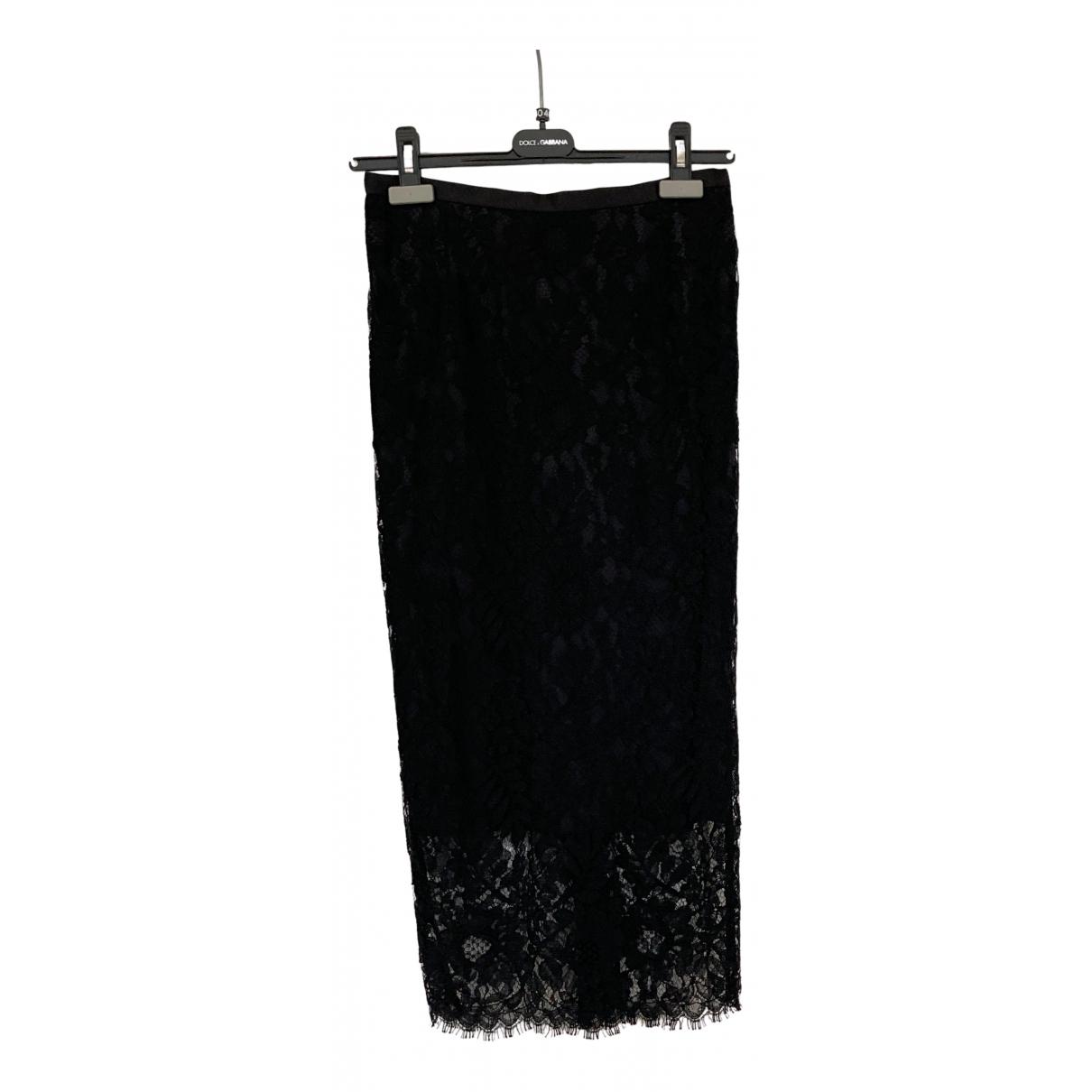 Dolce & Gabbana - Jupe   pour femme en soie - noir