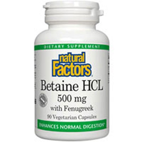 Betaine HCL 180 Caps by Natural Factors