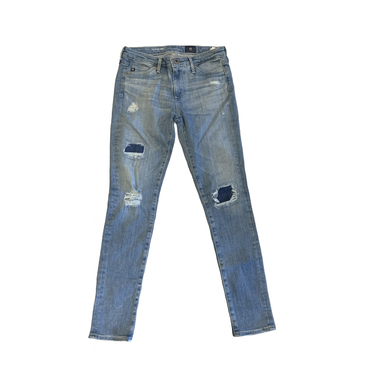 Ag Adriano Goldschmied \N Blue Cotton - elasthane Jeans for Women 25 US