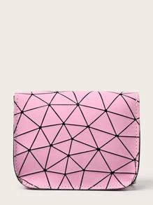 Geometric Print Chain Crossbody Bag