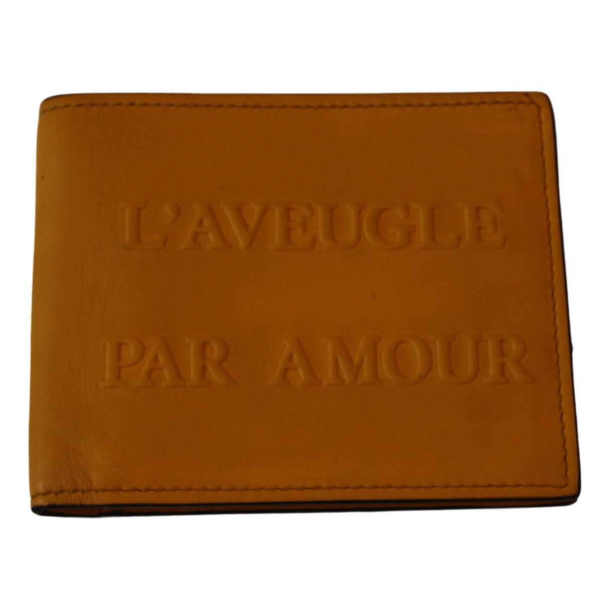 Gucci - Petite maroquinerie   pour homme en cuir - jaune