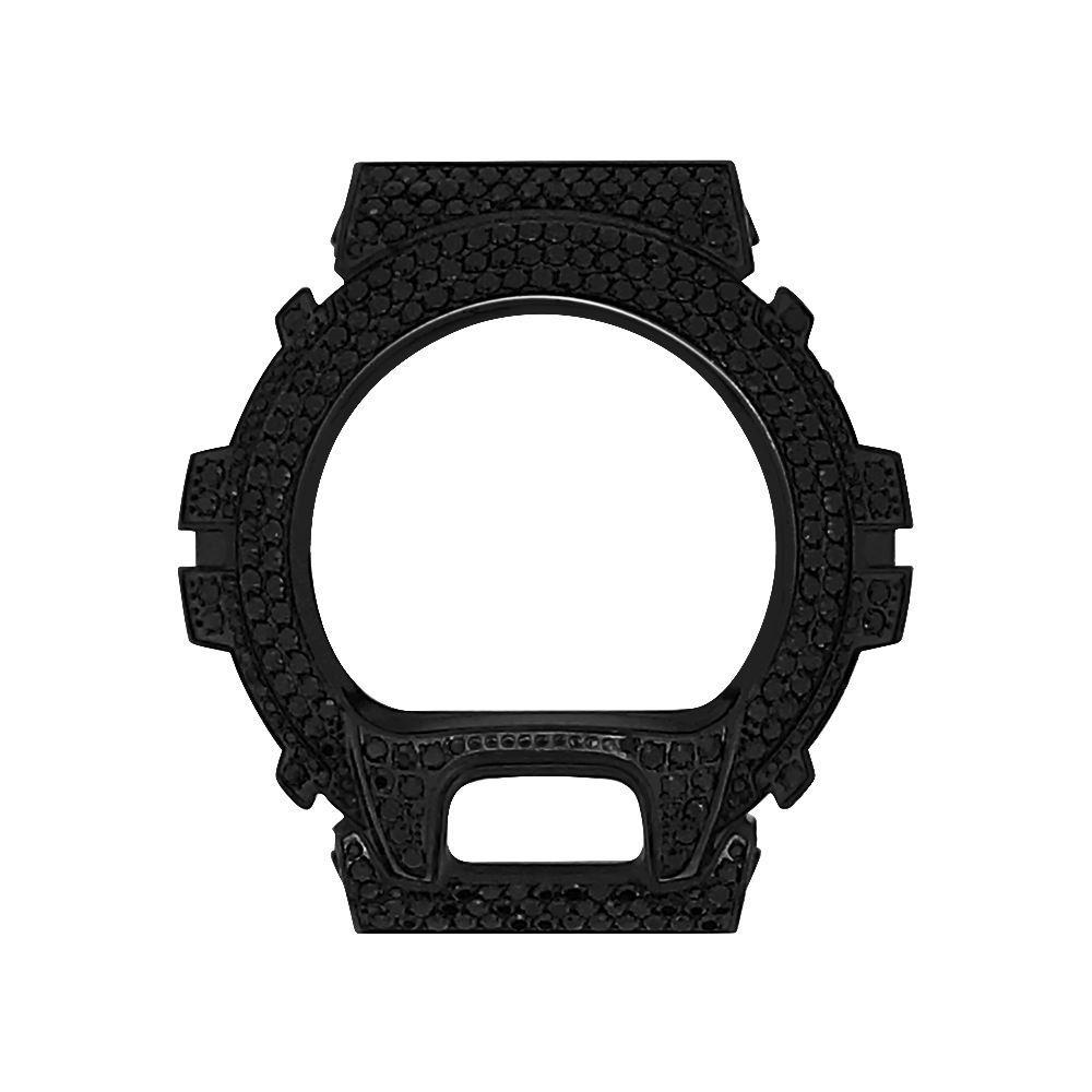 Black CZ Stainless Steel Bezel Case For Casio G Shock DW6900