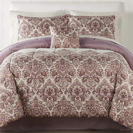 Home Expressions Hayden Complete Bedding Set with Sheets, One Size , Purple