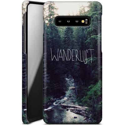 Samsung Galaxy S10 Plus Smartphone Huelle - Wanderlust - Rainier Creek von Leah Flores