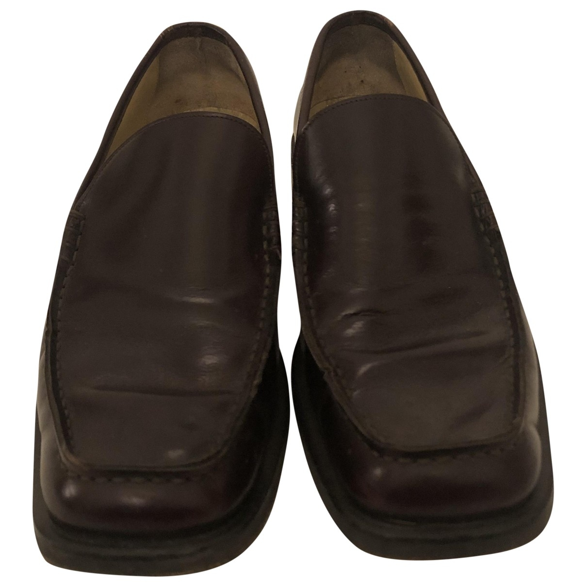 Gucci \N Brown Leather Flats for Men 41 EU