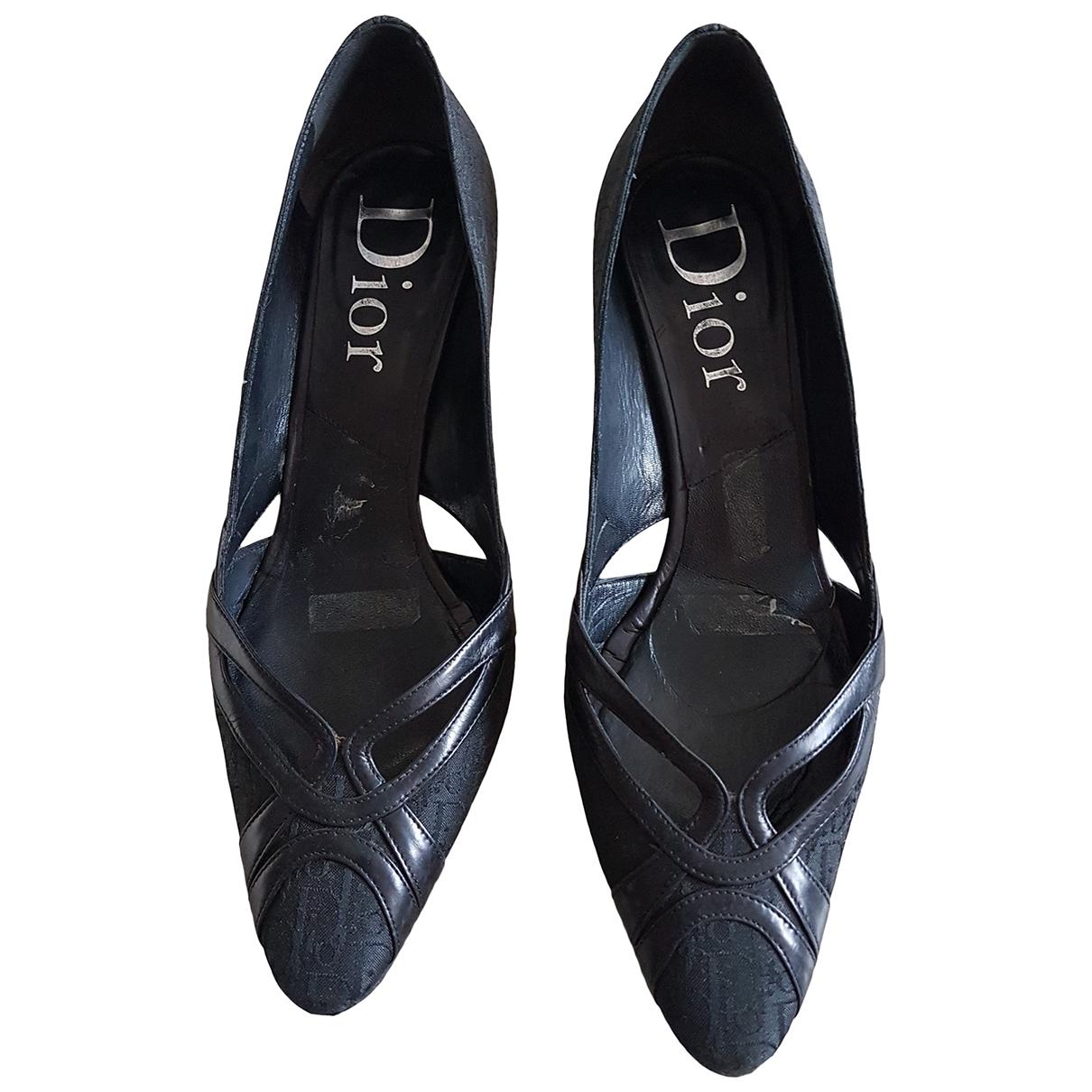 Dior - Escarpins   pour femme en toile - noir