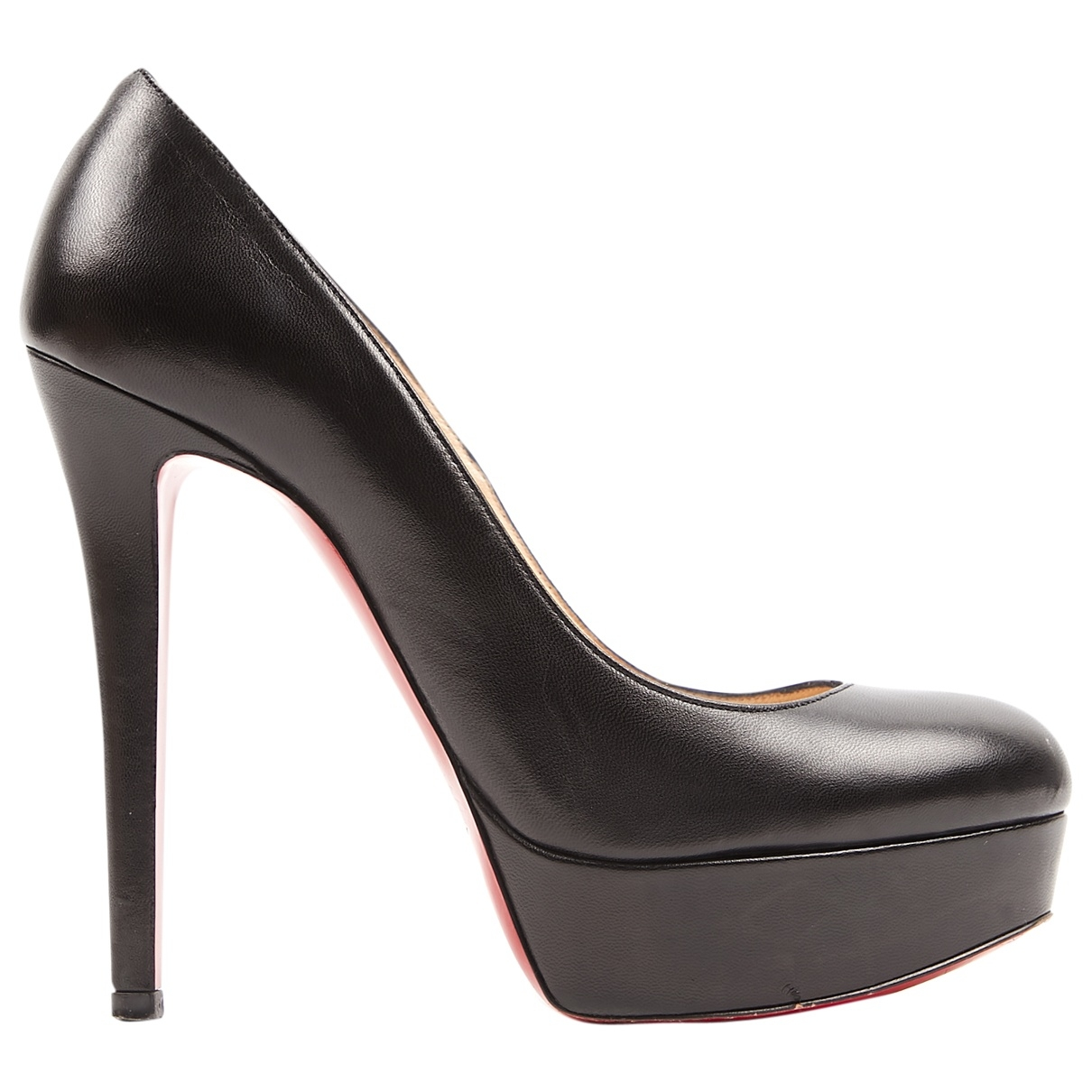 Christian Louboutin Bianca Black Leather Heels for Women 36.5 EU