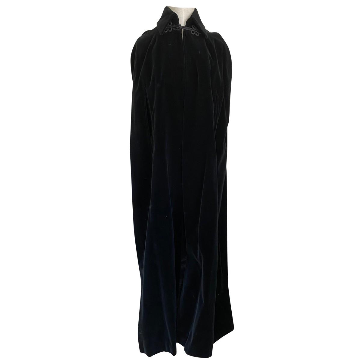 - Veste Manche ballon pour femme en velours - noir