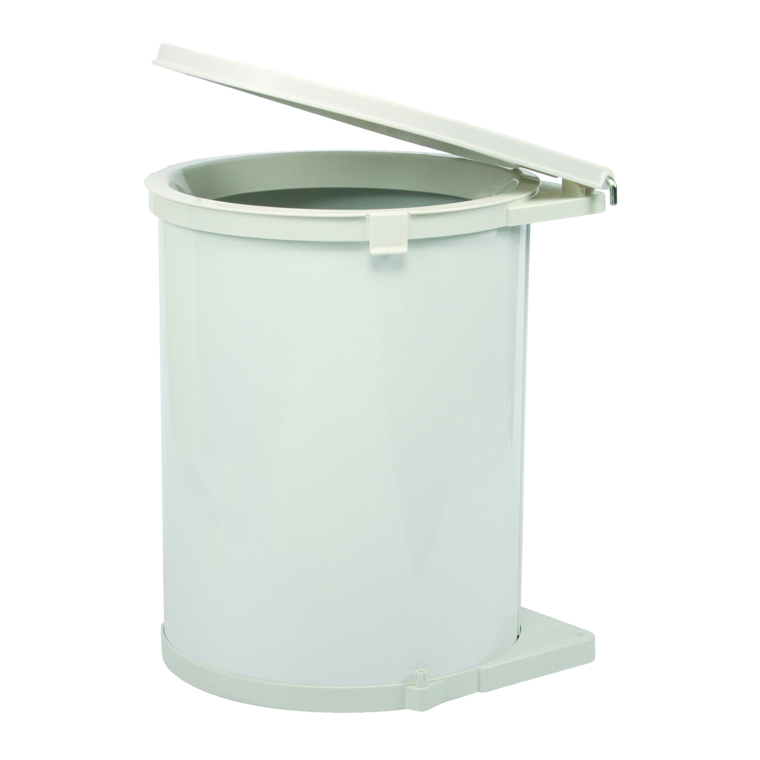 Real Solutions Single 32qt Pivot-out Waste & Recyling Unit with Lid, White