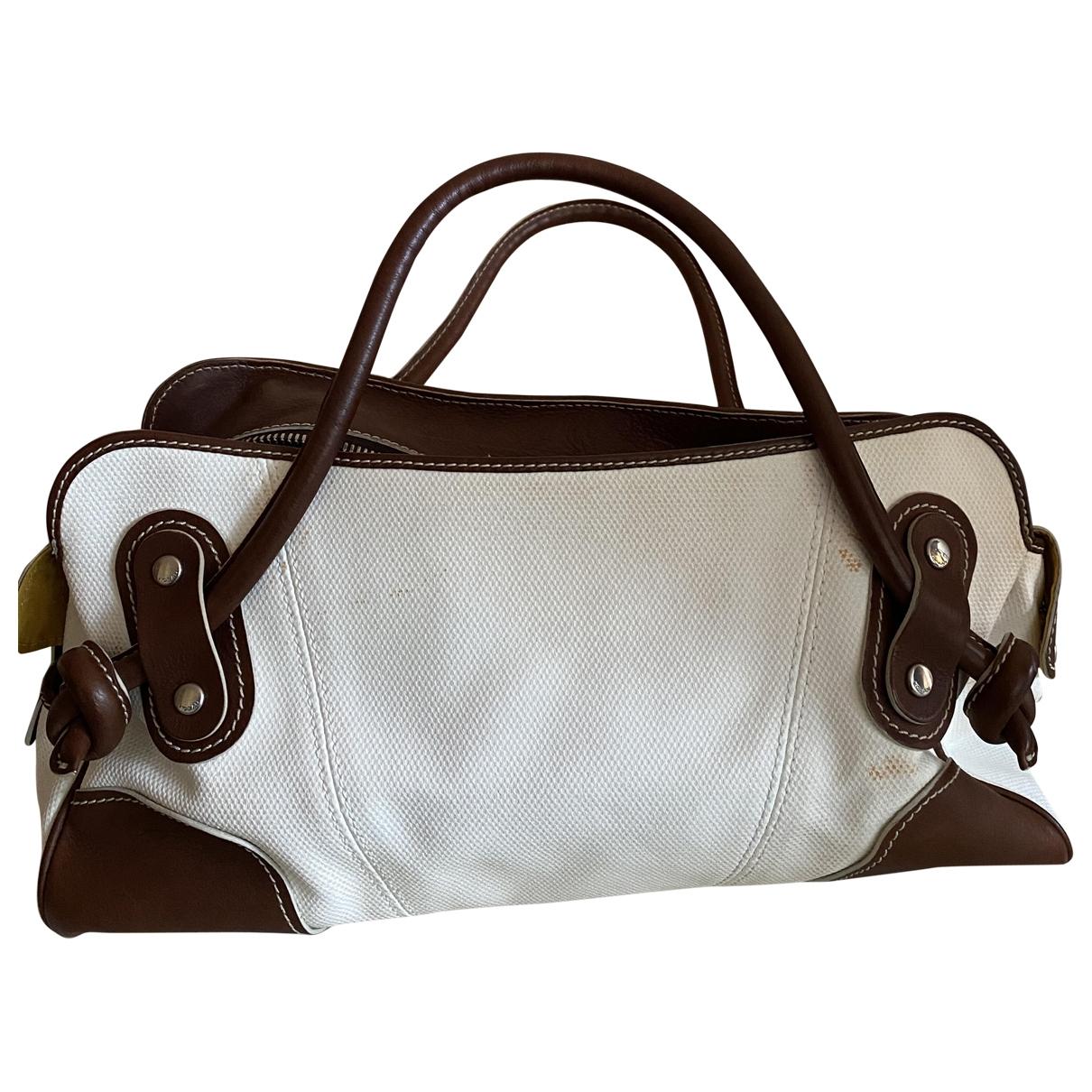 Hogan \N Handtasche in  Weiss Leinen