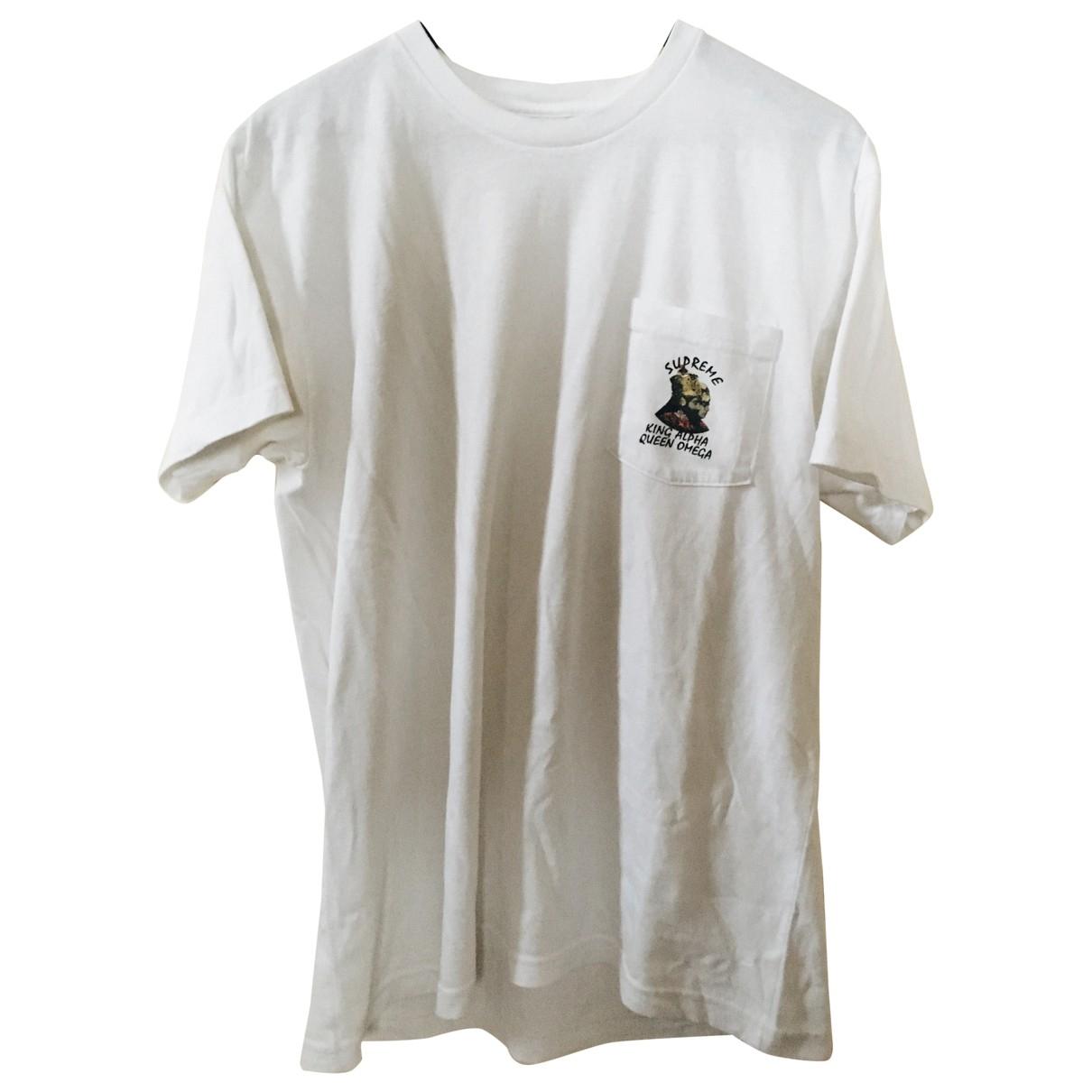 Supreme \N T-Shirts in  Weiss Baumwolle