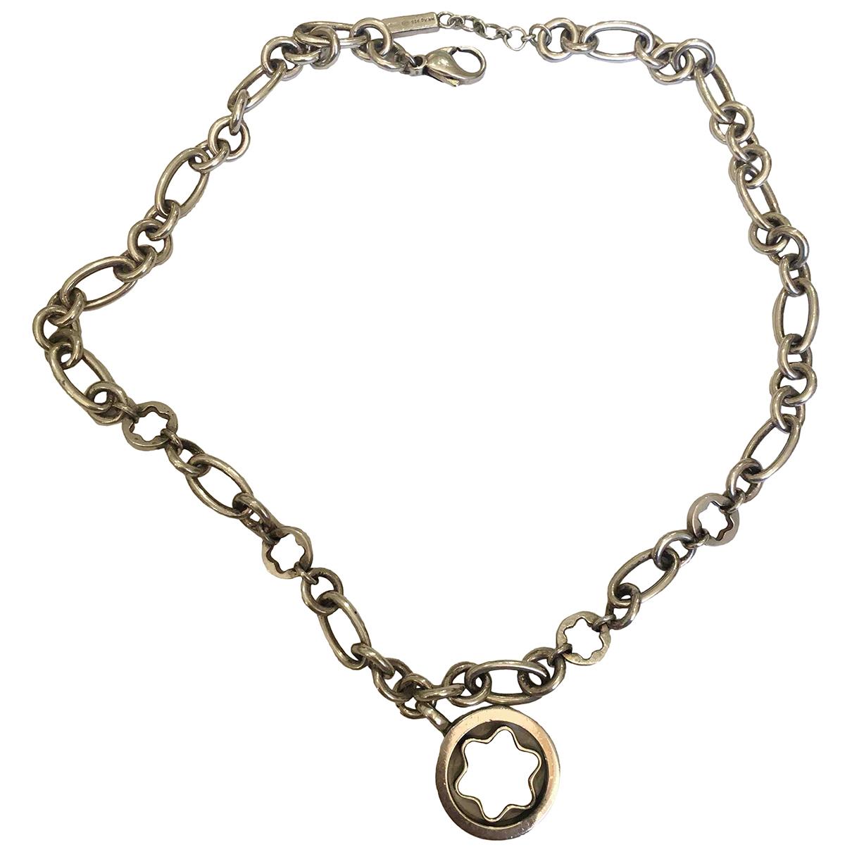 Montblanc \N Halskette in  Silber Metall