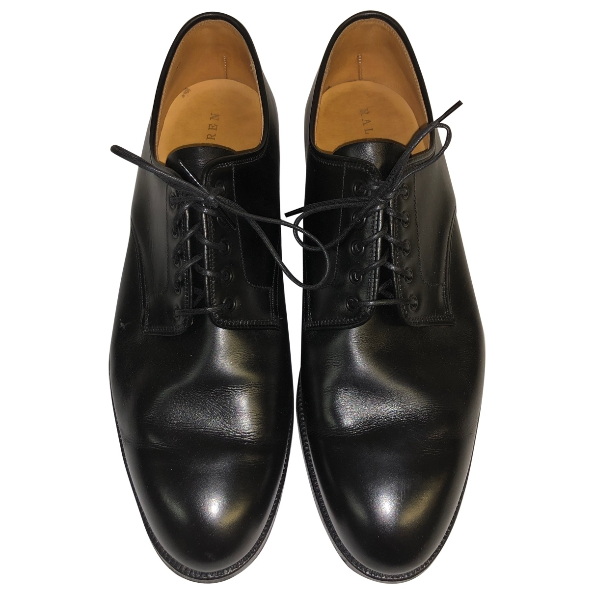 Ralph Lauren Collection \N Black Leather Lace ups for Men 8.5 US