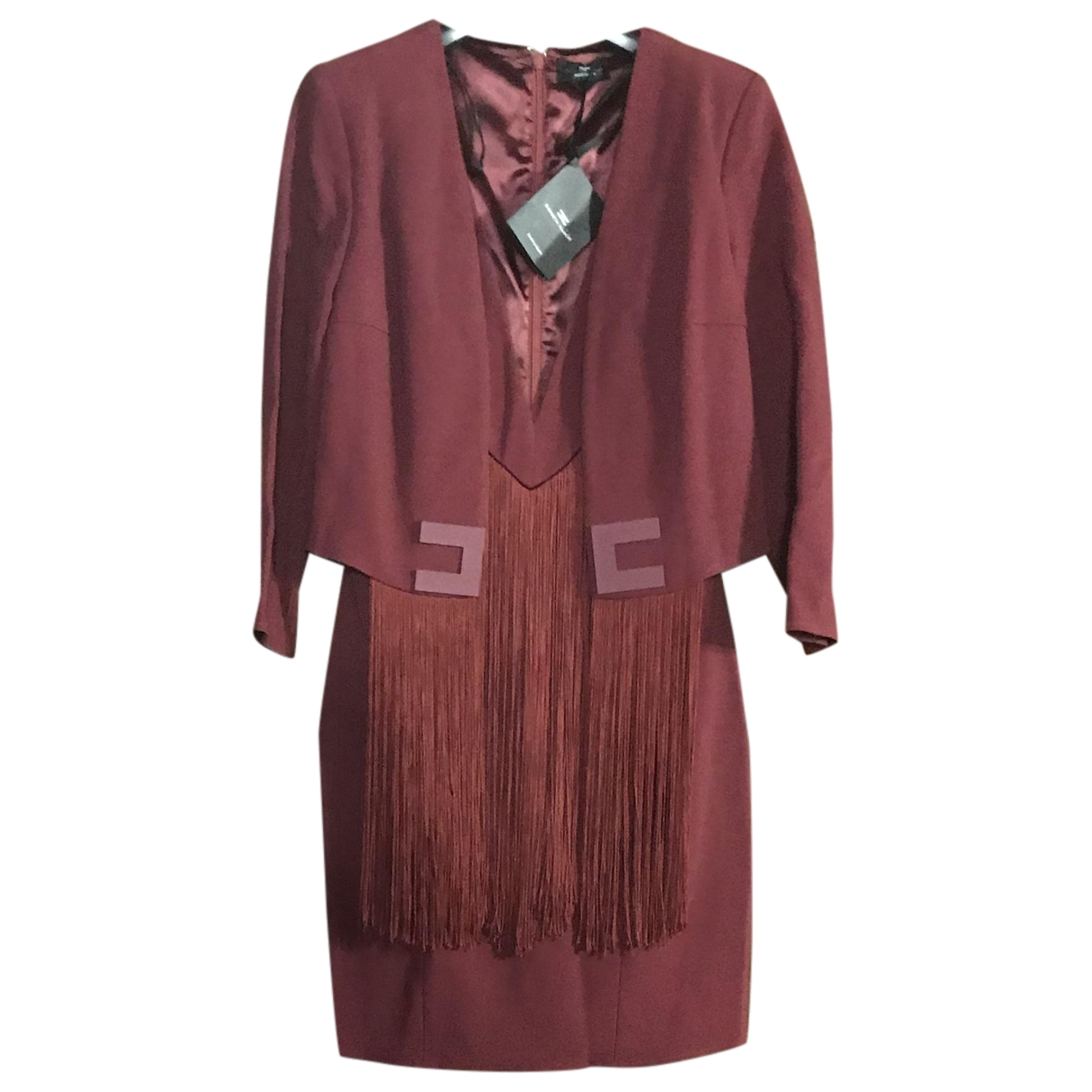 Elisabetta Franchi \N Burgundy dress for Women 40 IT