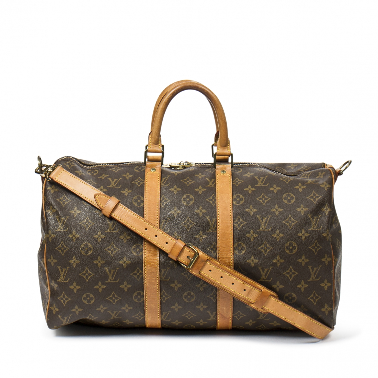 Louis Vuitton Keepall Reisetasche in  Braun Leder