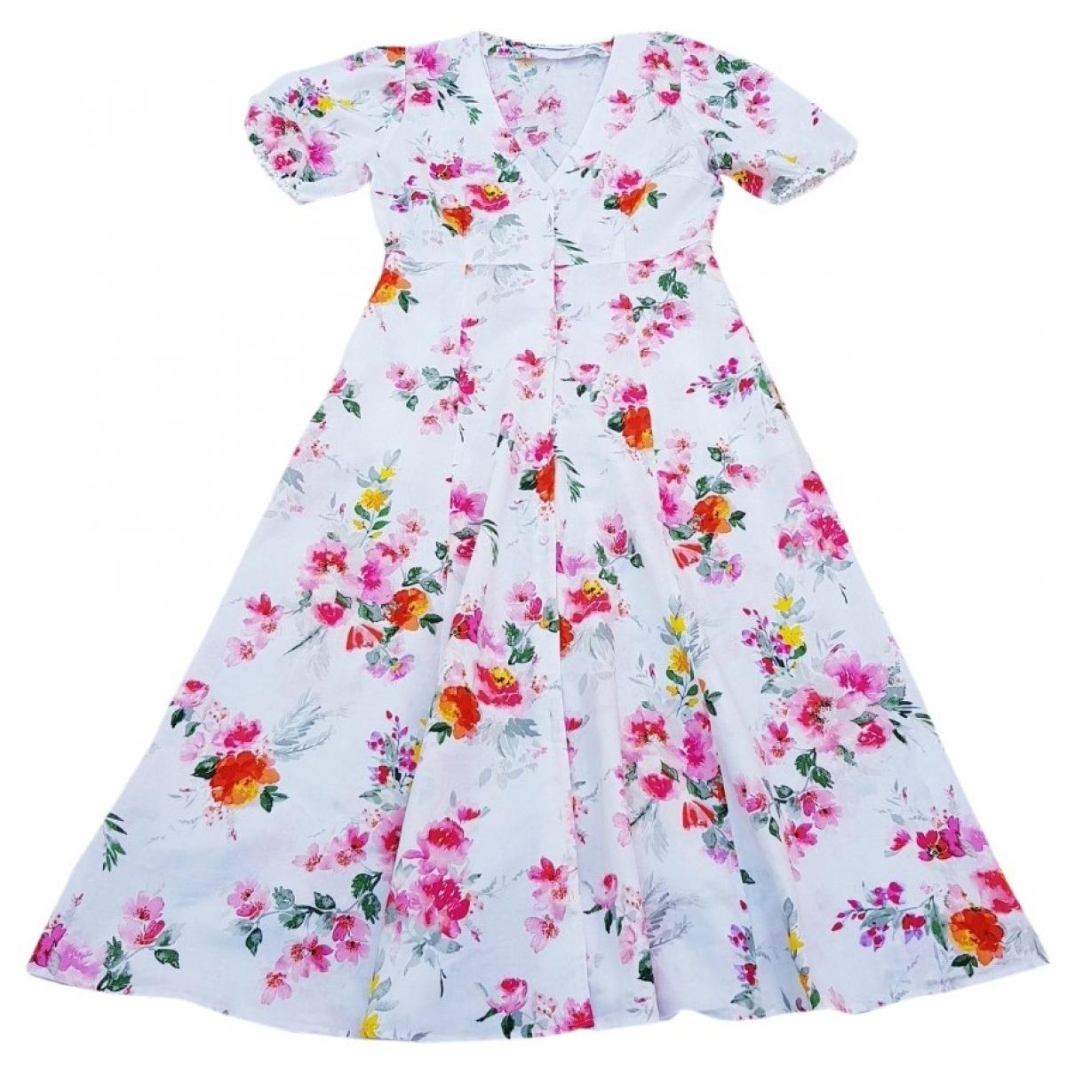 Zara \N Kleid in  Bunt Leinen
