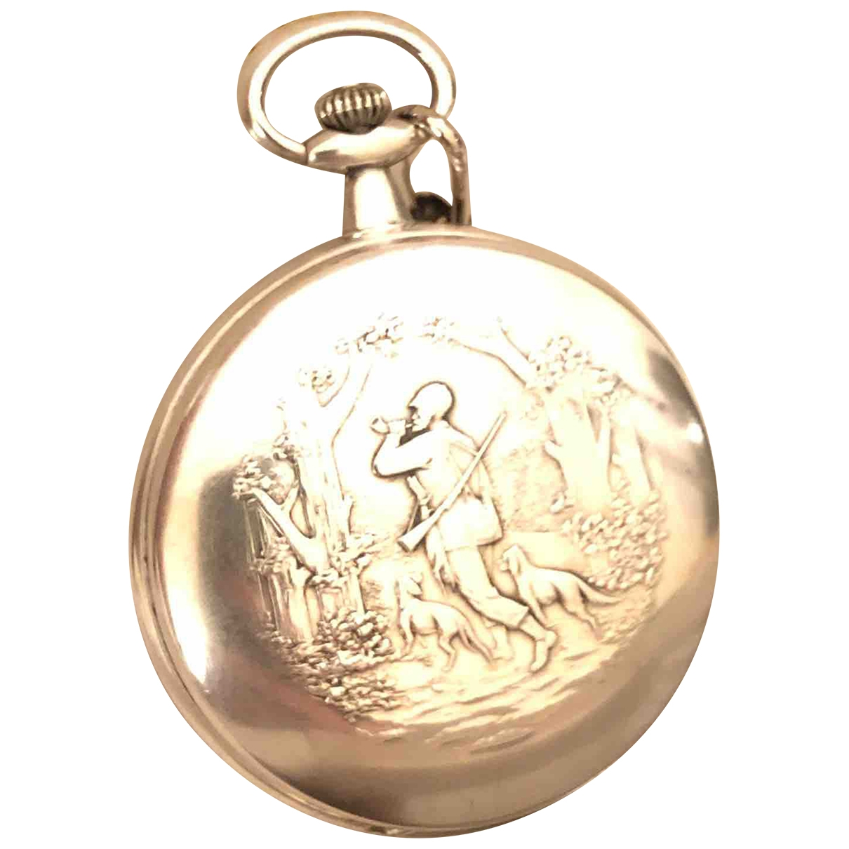Non Signe / Unsigned \N Uhr in  Metallic Silber