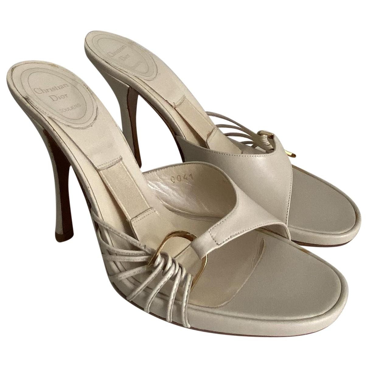 Dior \N Sandalen in  Weiss Leder