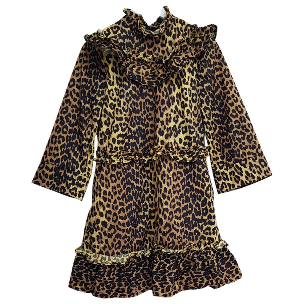 Ganni - Robe Spring Summer 2020 pour femme en coton - beige