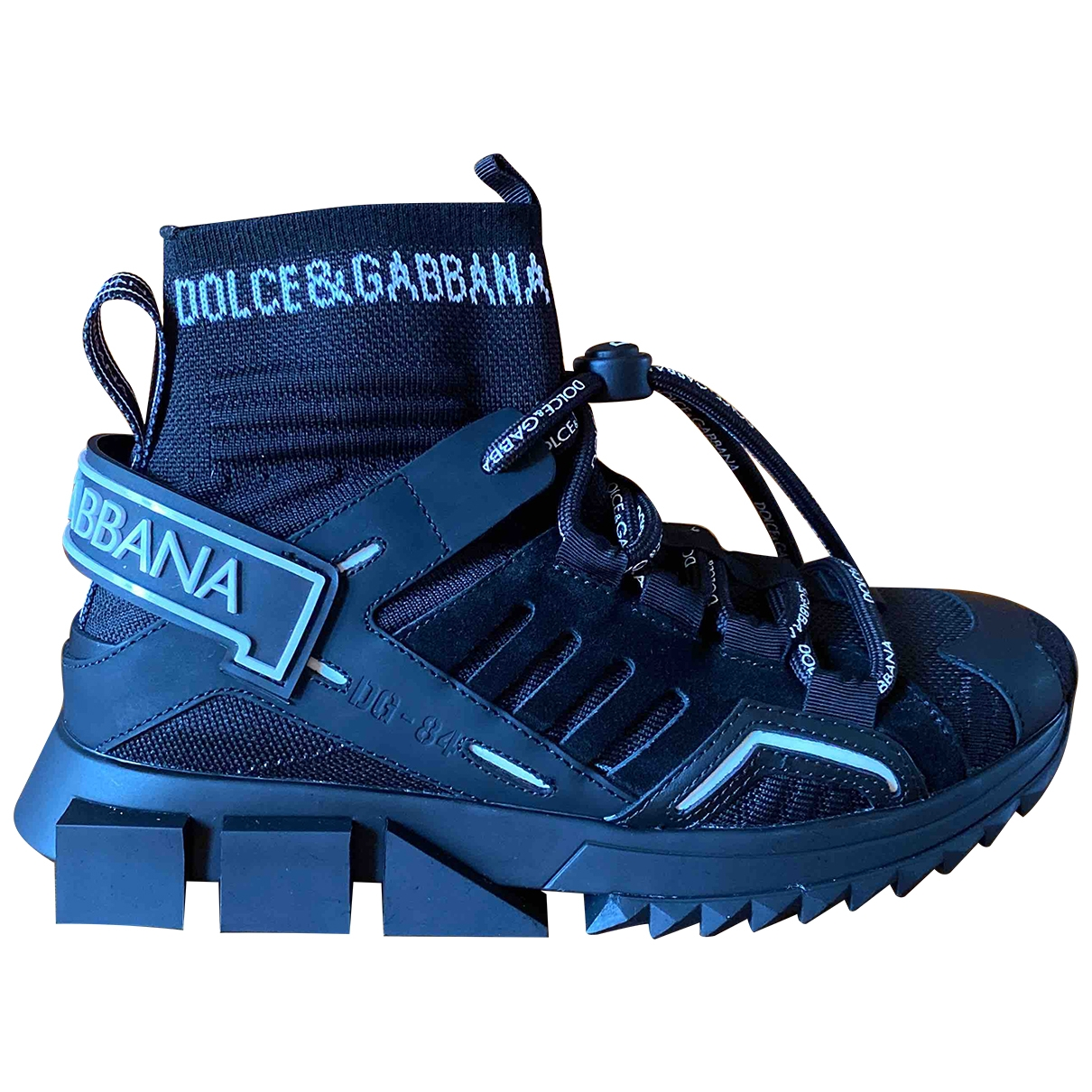 Dolce & Gabbana - Baskets Sorrento pour femme en toile - noir