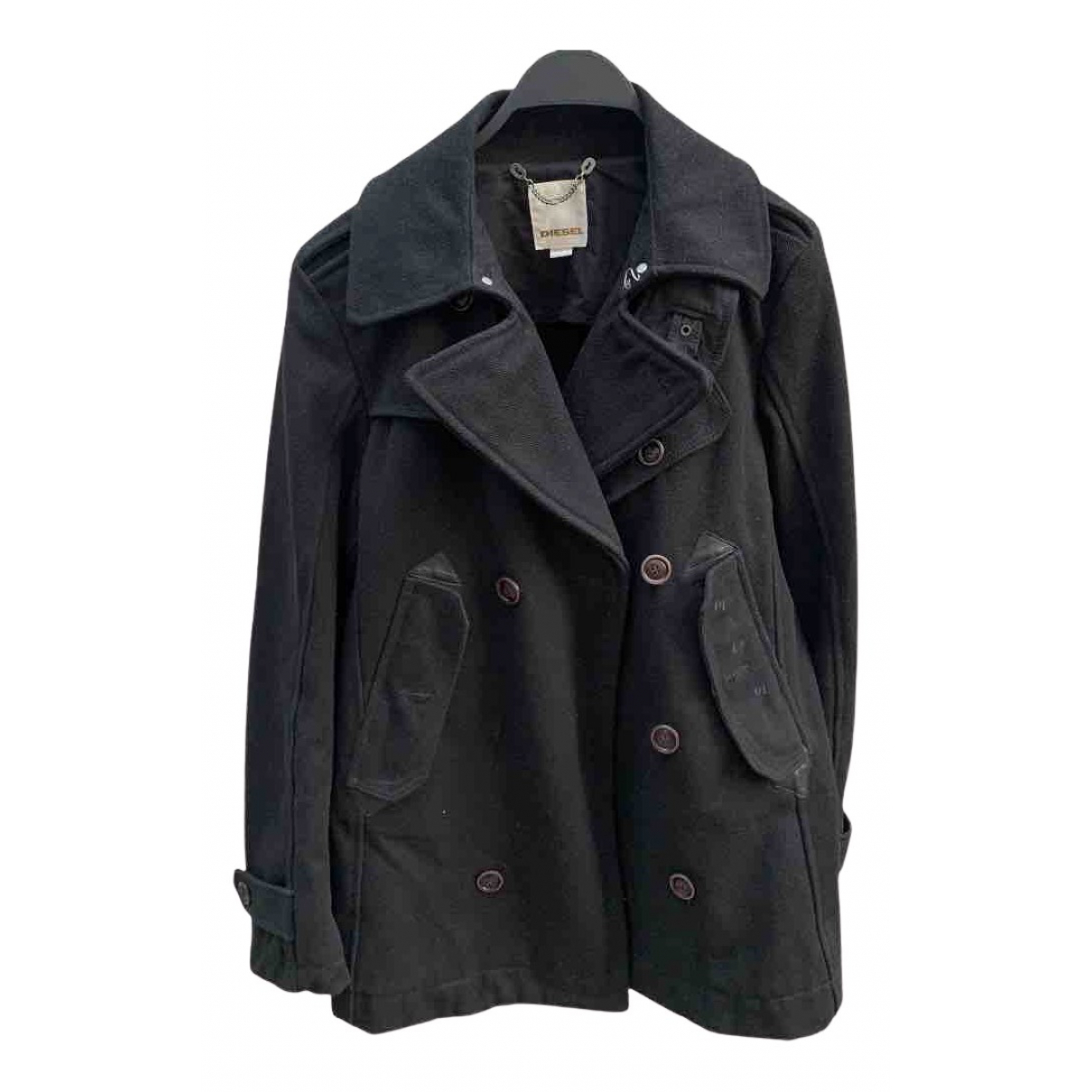 Diesel - Vestes.Blousons   pour homme en laine - noir