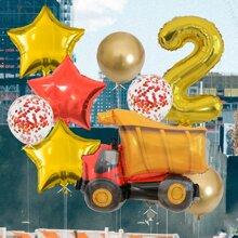 11pcs Cartoon Decorative Balloon Set