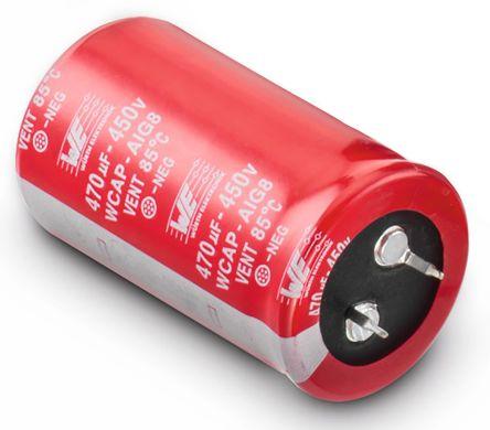 Wurth Elektronik 150μF Electrolytic Capacitor 450V dc, Through Hole - 861011485014