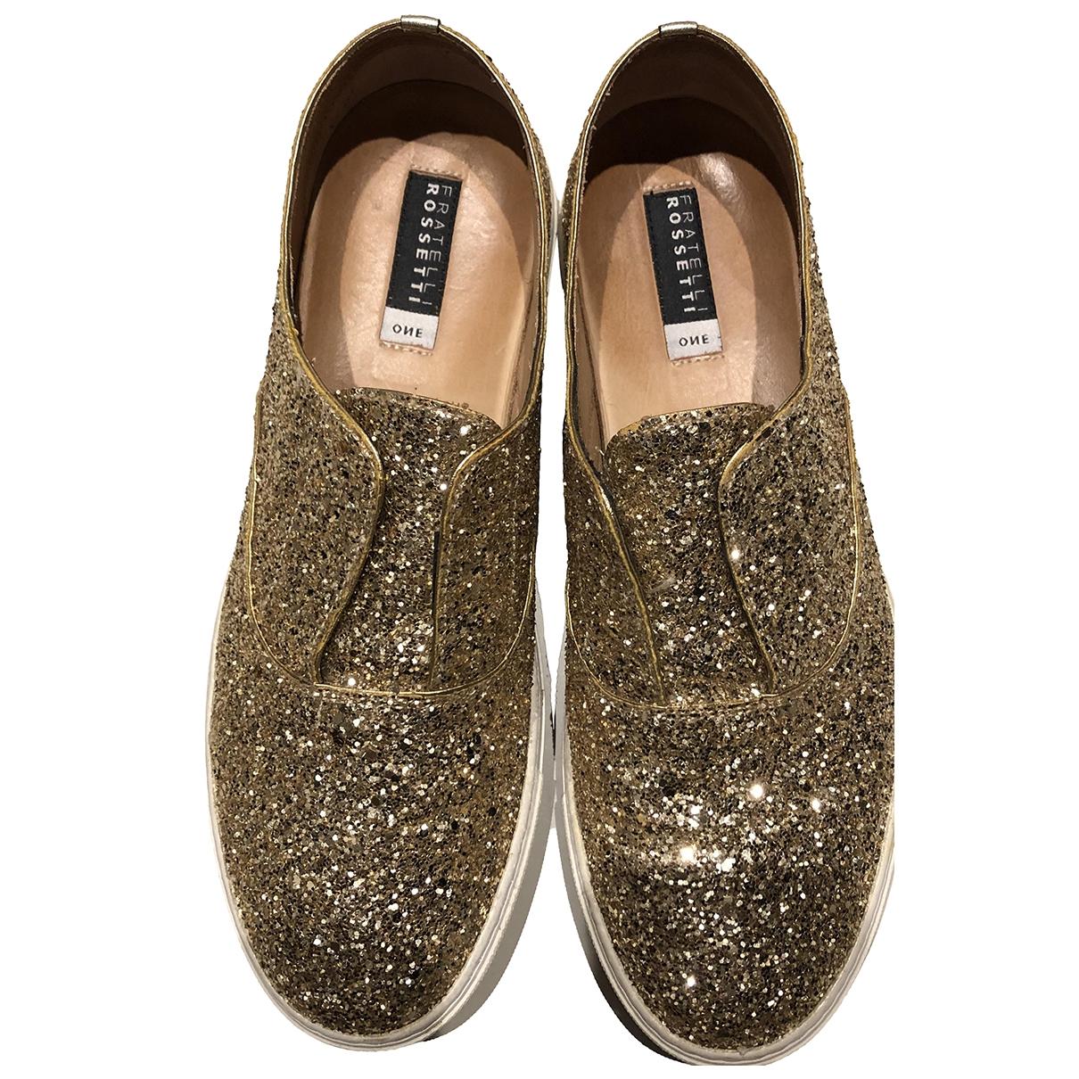 Fratelli Rossetti \N Sneakers in  Gold Mit Pailletten