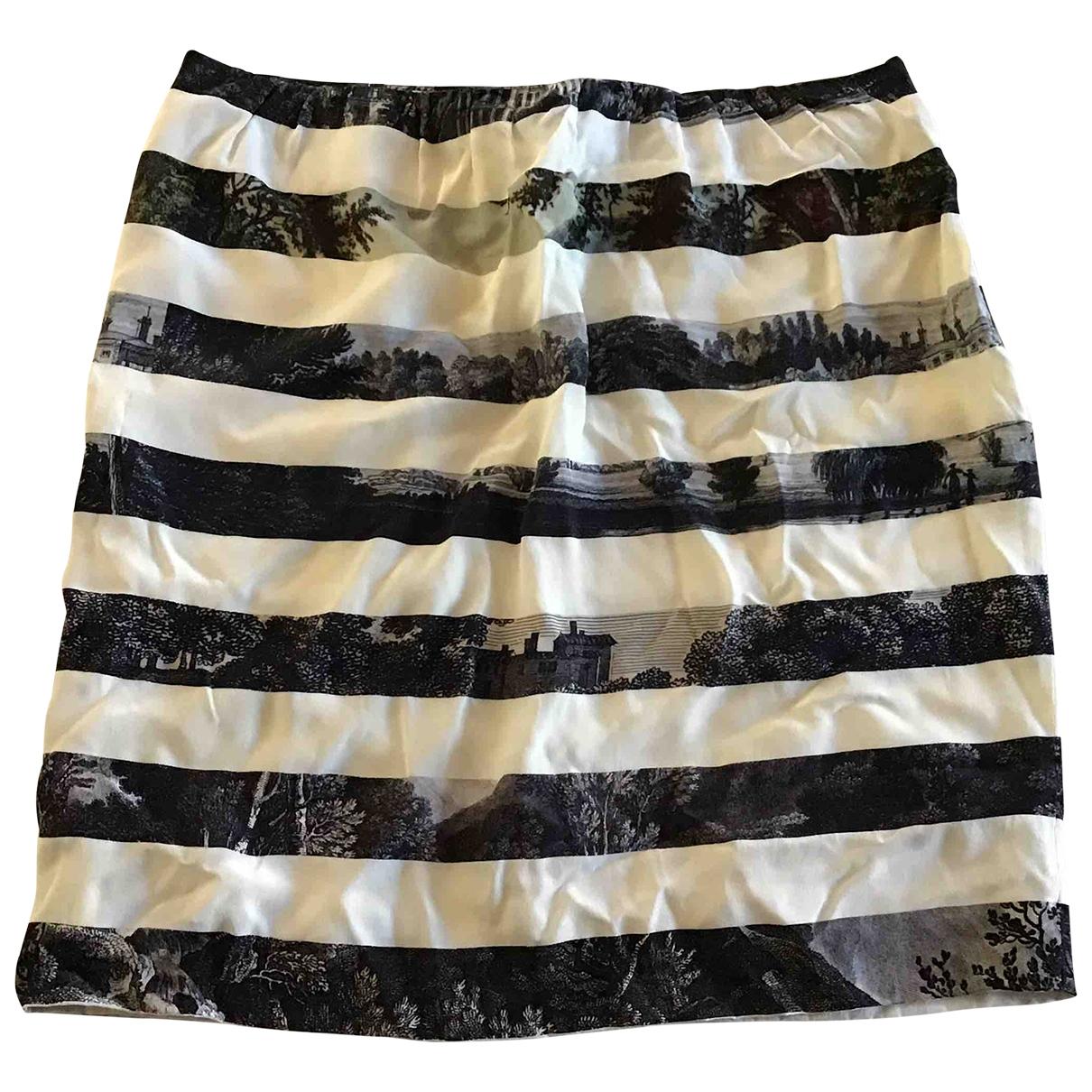 Dries Van Noten \N Ecru Silk skirt for Women 40 FR