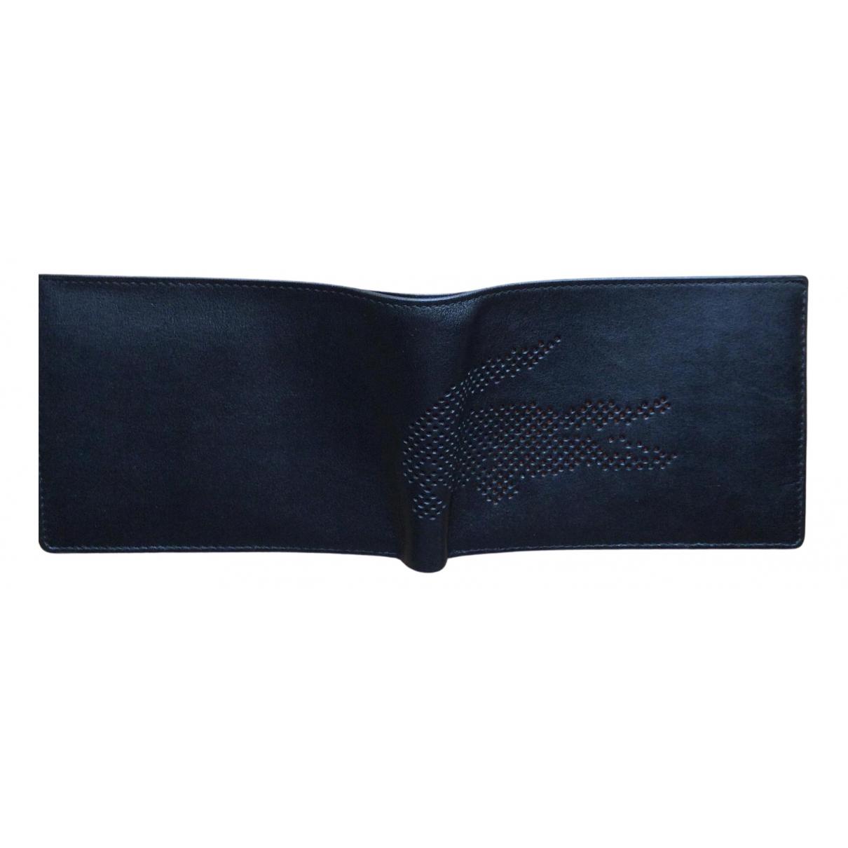 Lacoste - Petite maroquinerie   pour homme en cuir - bleu