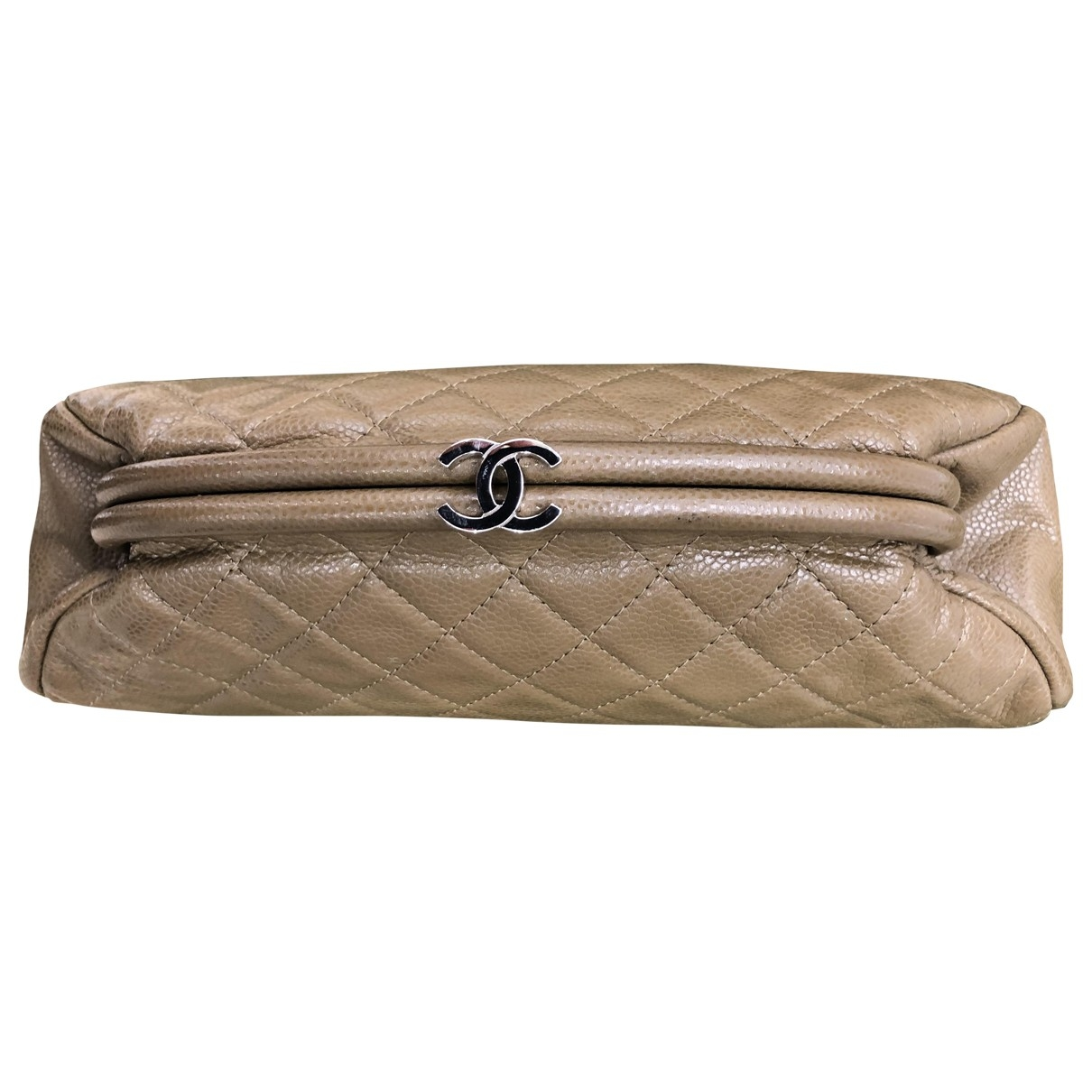 Chanel Mademoiselle Camel Leather Clutch bag for Women \N