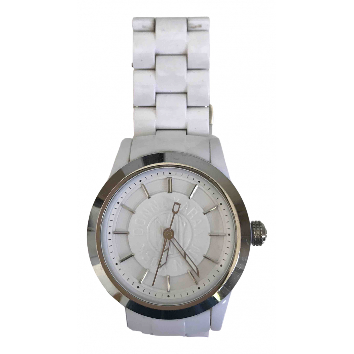 Dkny \N Uhr in  Weiss Stahl