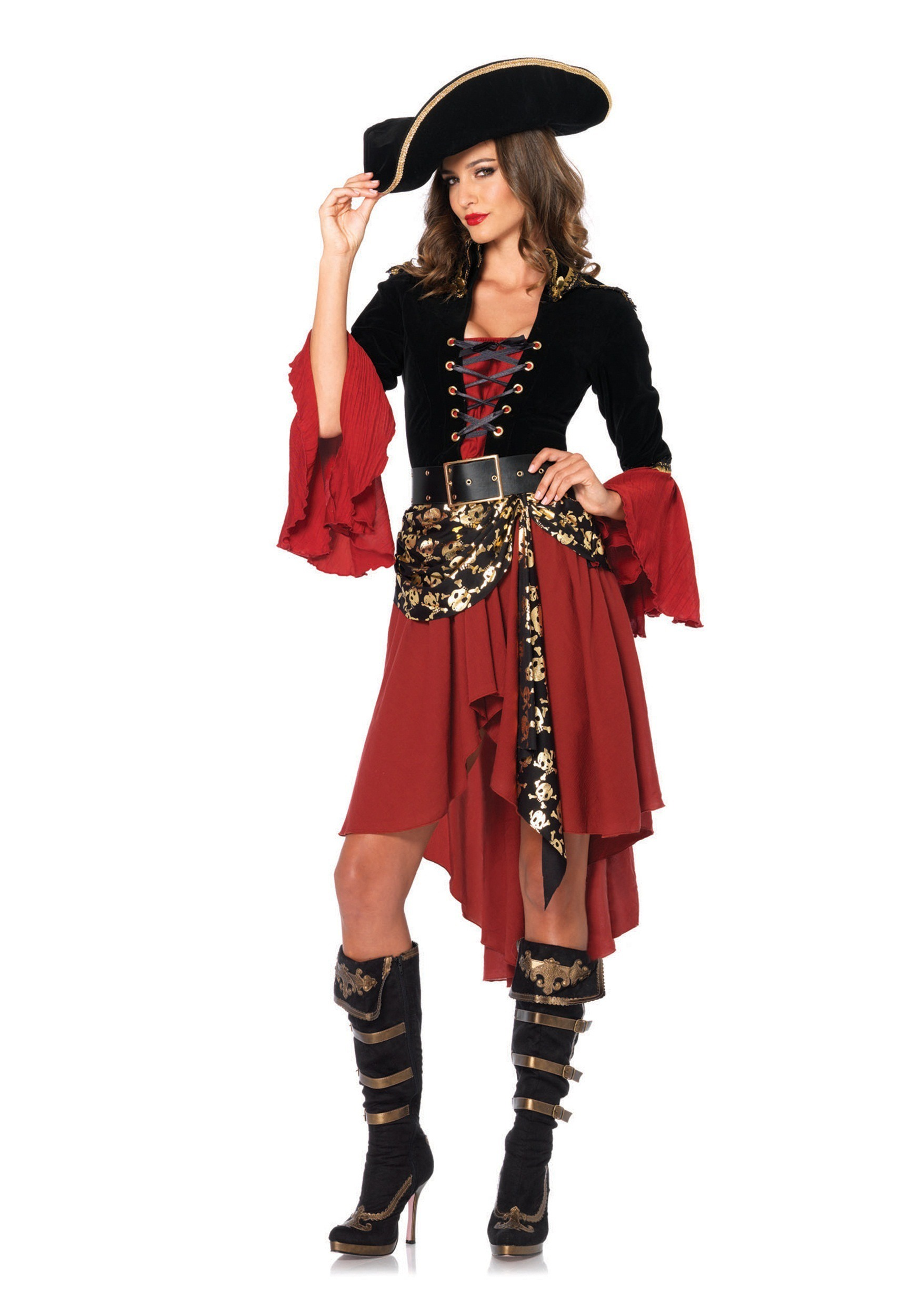 Cruel Seas Captain Costume for Women