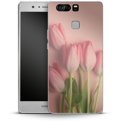 Huawei P9 Silikon Handyhuelle - Pink Tulips von Joy StClaire