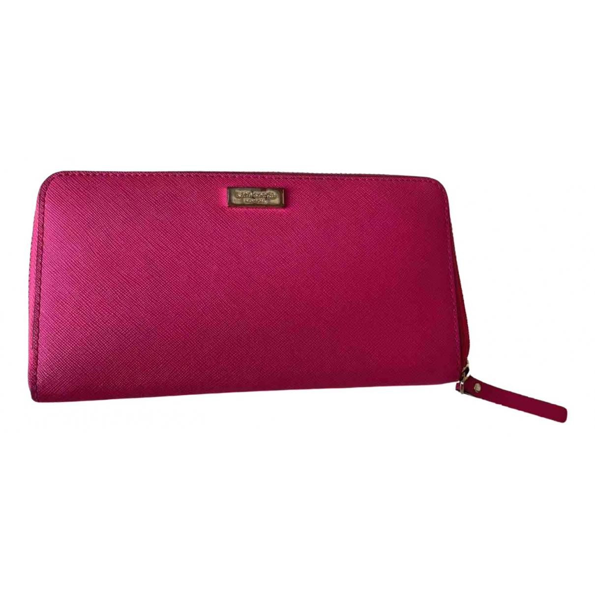 Kate Spade - Portefeuille   pour femme en cuir - rose