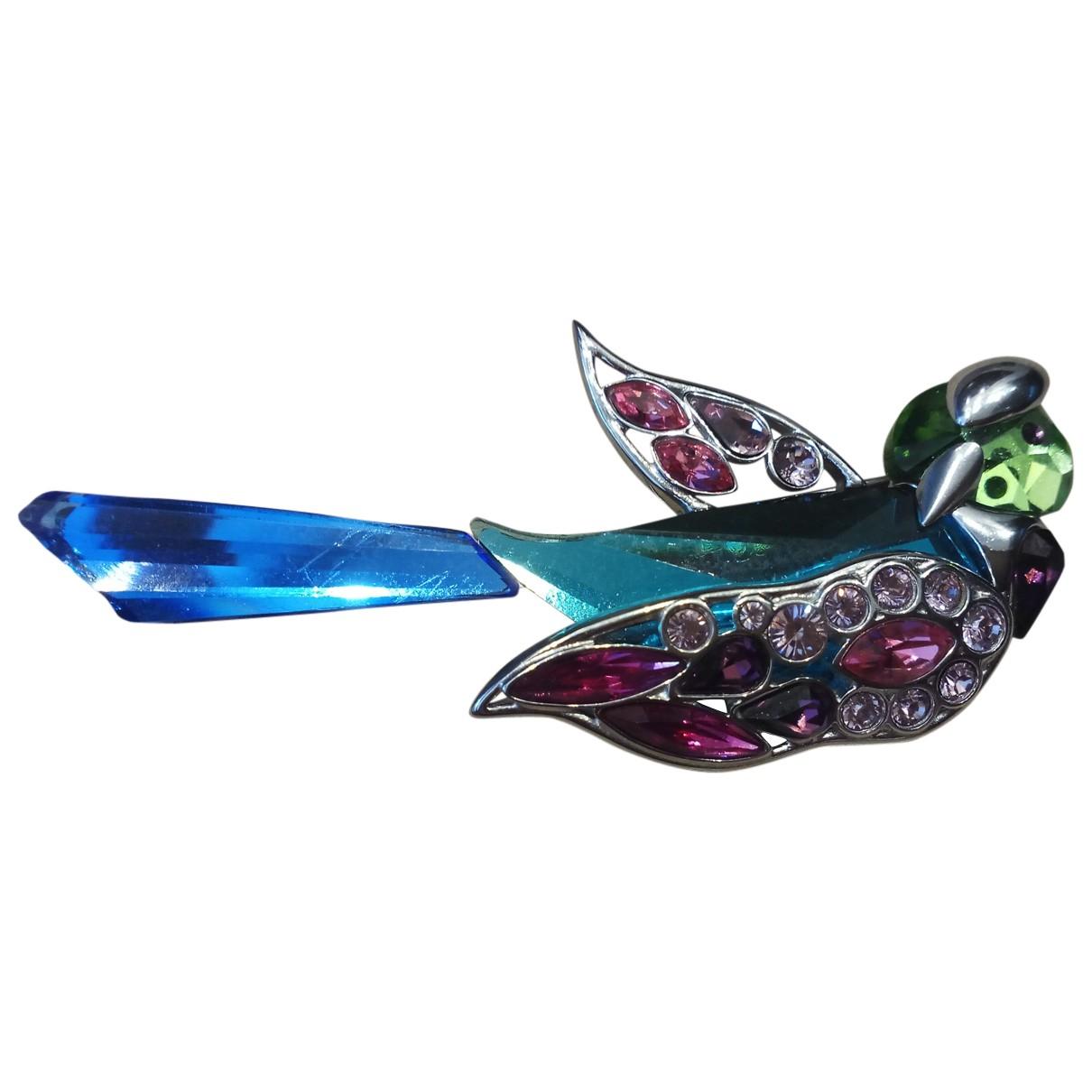 Swarovski - Broche   pour femme en argent - multicolore