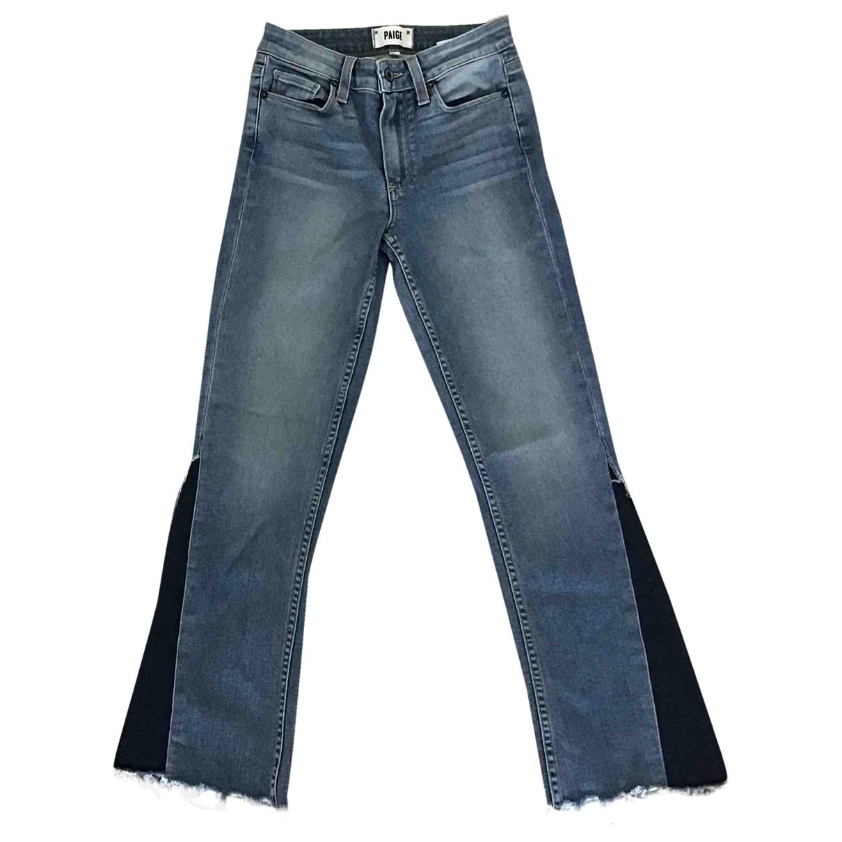 Paige Jeans \N Blue Cotton Jeans for Women 24 US