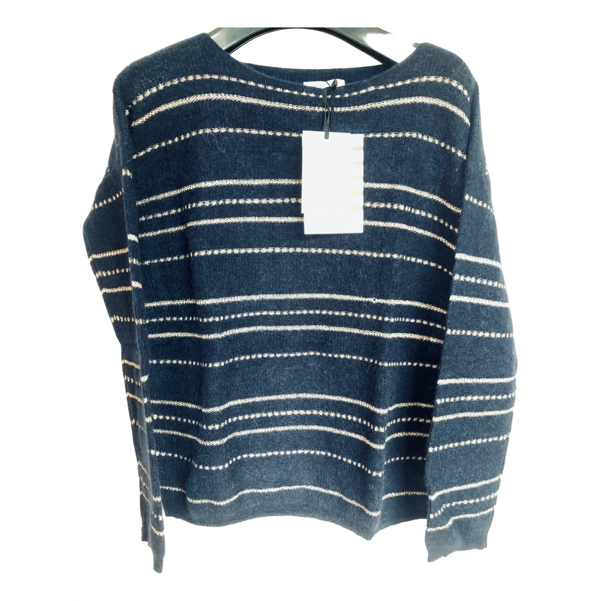 Sezane \N Pullover in  Marine Wolle