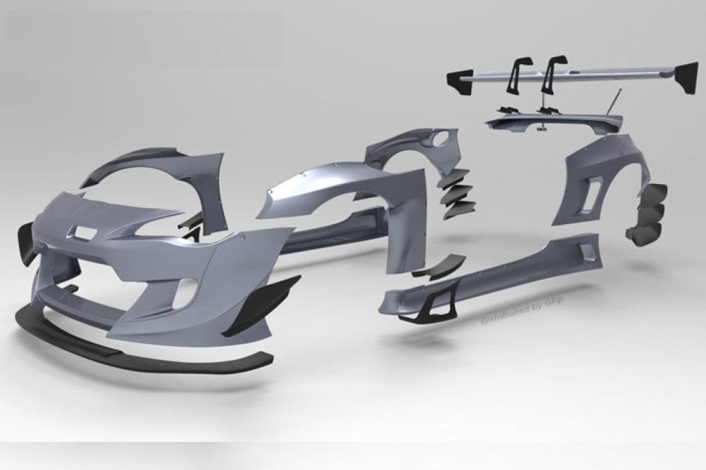 Pandem 17010277 V3 Wide Body Rear Canards Scion FR-S|BRZ 2013+