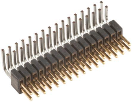 Samtec , FTSH, 32 Way, 2 Row, Right Angle Pin Header