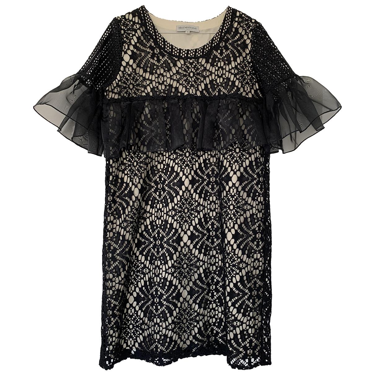 Heimstone - Robe   pour femme en dentelle - noir