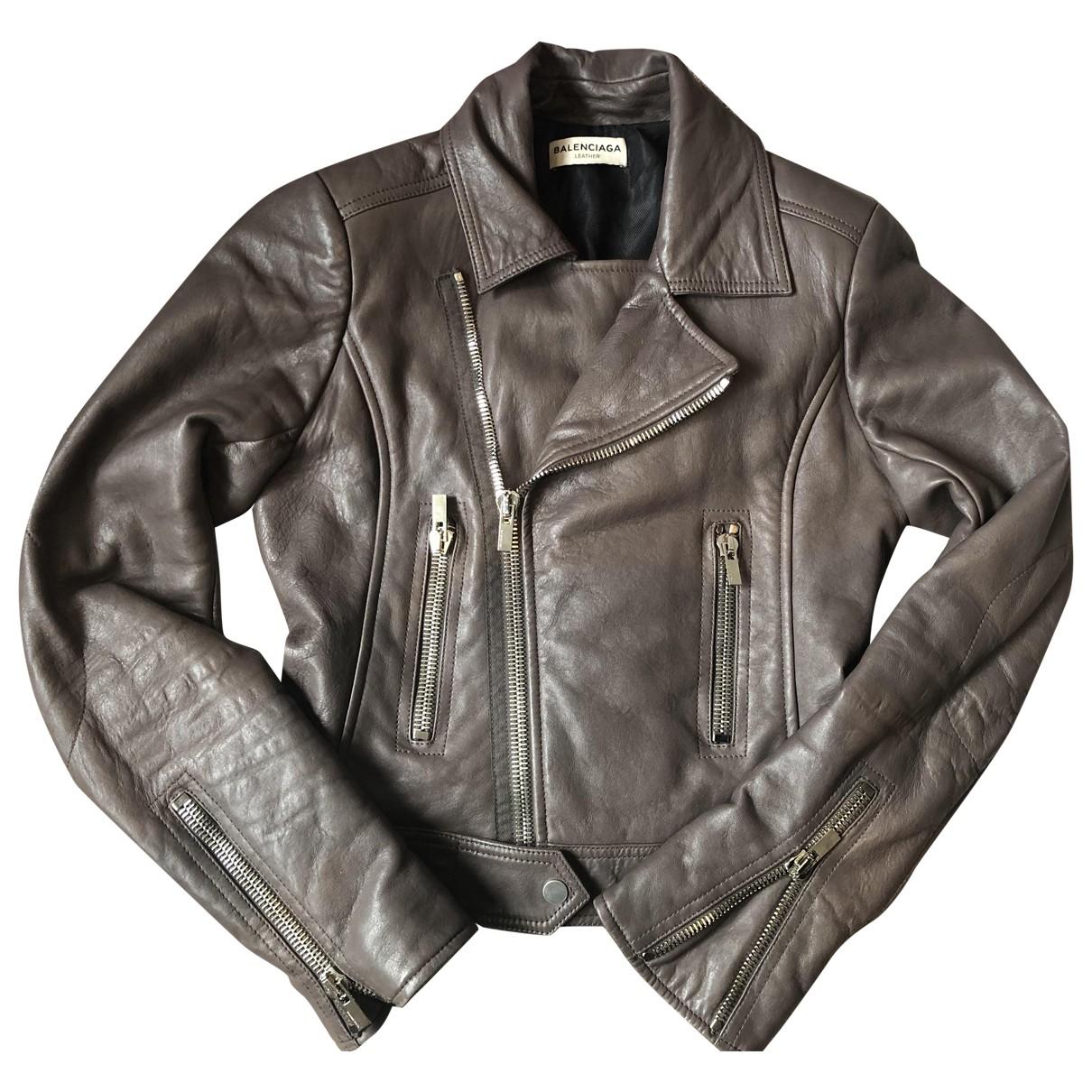 Balenciaga \N Leather Leather jacket for Women 38 FR